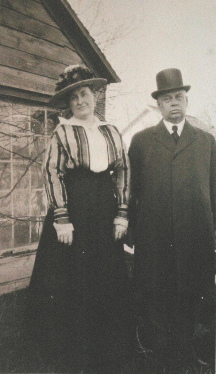 Rena & James E. back of garage
